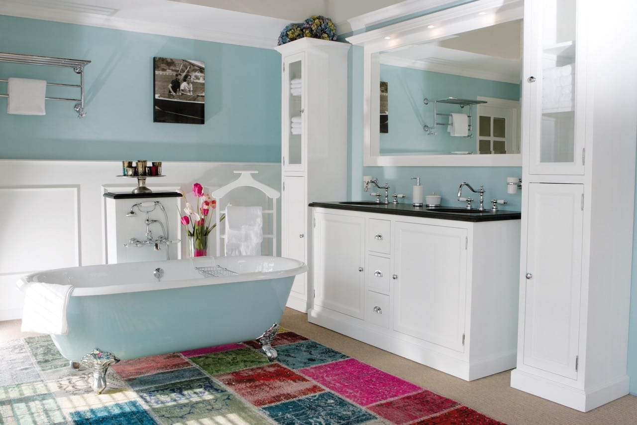 badkamermeubel wit in de landelijke badkamer