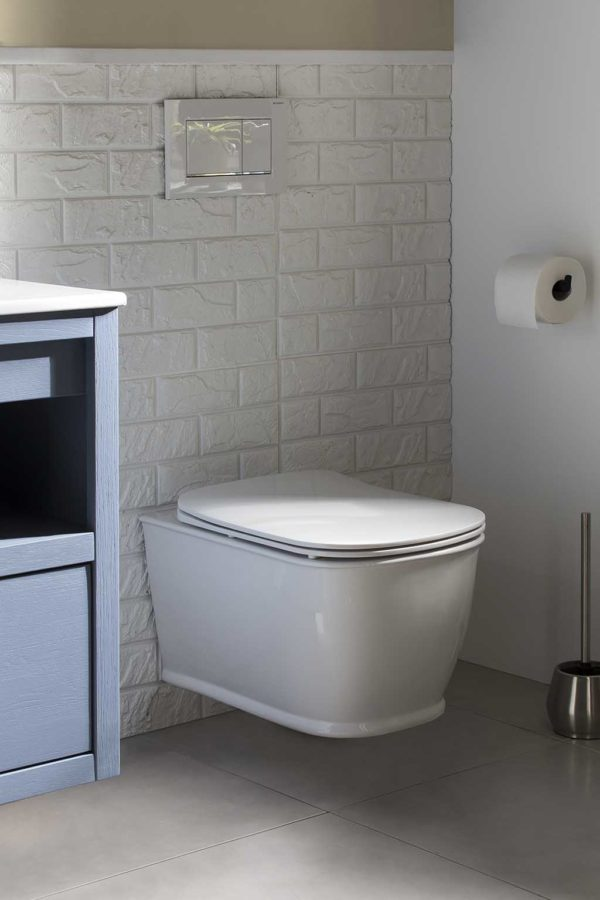 New Country Wandtoilet Rimless Spoeling inclusief Soft Close Toiletzitting