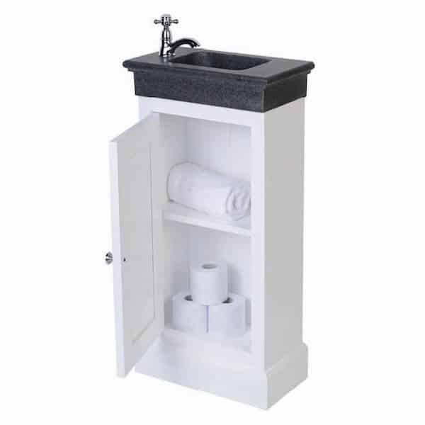 Traditional toiletmeubel wit staand