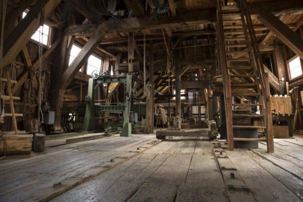Oud hout van de houtzagerij