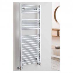 mooie handdoekradiator in chroom