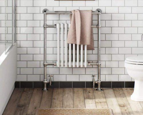 een traditionele handdoek radiator