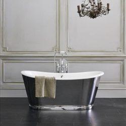 mooi vrijstaand bad in de kleur zwart