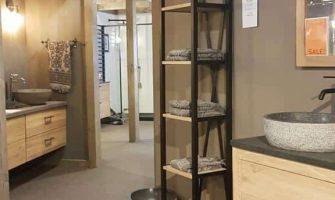 mooie showroom Van Heck badkamers in Antwerpen