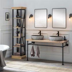 De mooiste zwarte kraan in de industriële badkamer