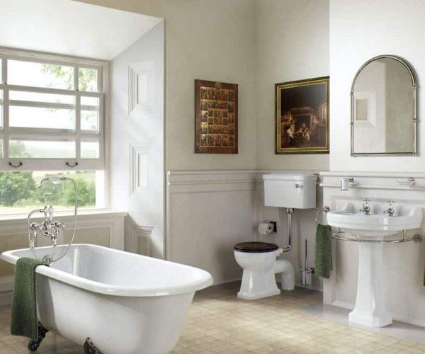de mooiste sfeer gecreëerd door klassiek sanitair